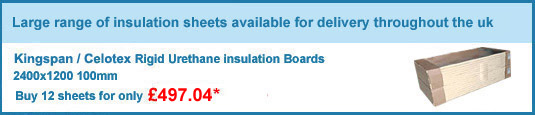 12no. 100mm celotex/kingspan insulation boards only £474.00 +VAT